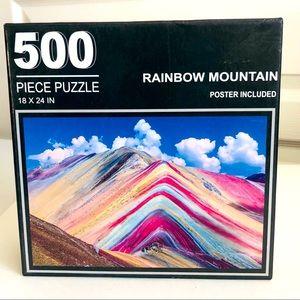 NWB Rainbow Mountain 500 Piece Puzzle